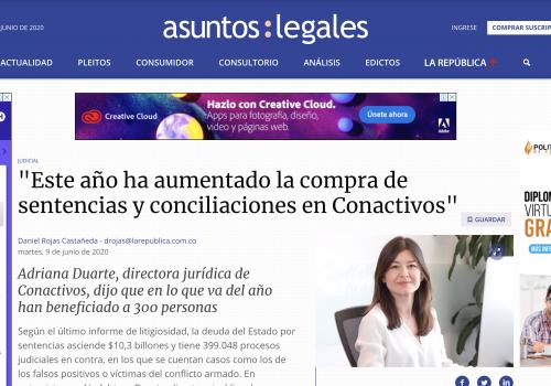 """""""Este año ha aumentado la Compra de Sentencias y Conciliaciones en Conactivos"""""""